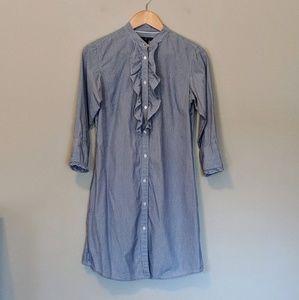 Gap Pinstriped Shirt Dress
